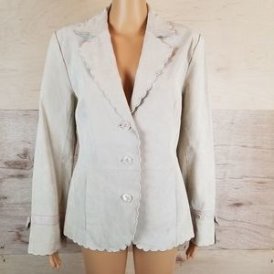 Terry Lewis Classic Luxuries Suede Leather Blazer